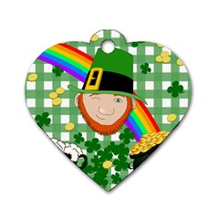 Lucky Irish Dog Tag Heart (two Sides) by Valentinaart