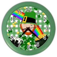 Lucky Irish Color Wall Clocks by Valentinaart