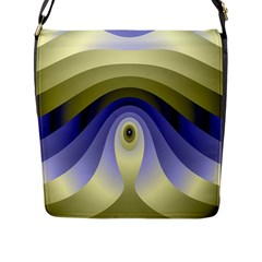 Fractal Eye Fantasy Digital Flap Messenger Bag (l)