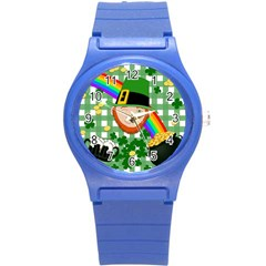 Lucky Irish Round Plastic Sport Watch (s) by Valentinaart