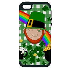 Lucky Irish Apple Iphone 5 Hardshell Case (pc+silicone) by Valentinaart