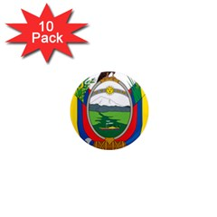 Coat Of Arms Of Ecuador 1  Mini Magnet (10 Pack)  by abbeyz71