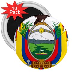 Coat Of Arms Of Ecuador 3  Magnets (10 Pack)  by abbeyz71