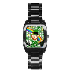Lucky Irish Stainless Steel Barrel Watch by Valentinaart