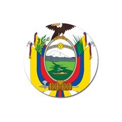 Coat Of Arms Of Ecuador Magnet 3  (round) by abbeyz71