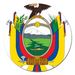 Coat Of Arms Of Ecuador Magnet 5  (round) by abbeyz71