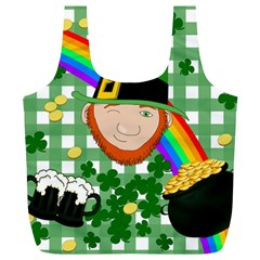 Lucky Irish Full Print Recycle Bags (l)  by Valentinaart