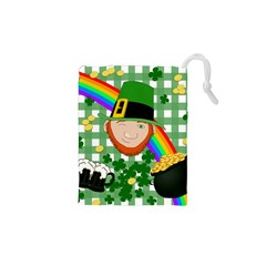Lucky Irish Drawstring Pouches (xs)  by Valentinaart