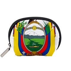 Coat Of Arms Of Ecuador Accessory Pouches (small)  by abbeyz71