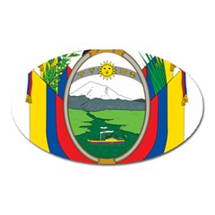 Coat Of Arms Of Ecuador Oval Magnet by abbeyz71