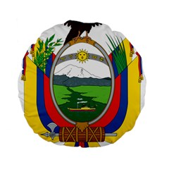Coat Of Arms Of Ecuador Standard 15  Premium Round Cushions by abbeyz71
