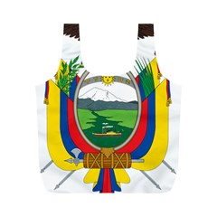 Coat Of Arms Of Ecuador Full Print Recycle Bags (m)  by abbeyz71