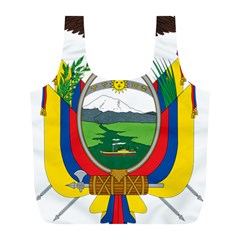 Coat Of Arms Of Ecuador Full Print Recycle Bags (l)  by abbeyz71