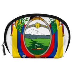 Coat Of Arms Of Ecuador Accessory Pouches (large)  by abbeyz71
