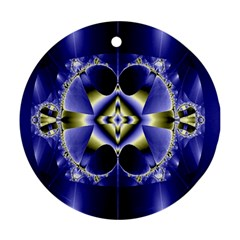 Fractal Fantasy Blue Beauty Ornament (round) by Nexatart
