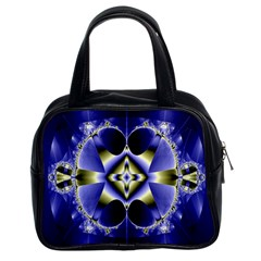 Fractal Fantasy Blue Beauty Classic Handbags (2 Sides) by Nexatart