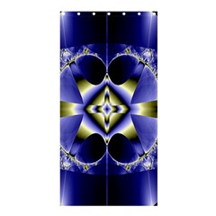 Fractal Fantasy Blue Beauty Shower Curtain 36  X 72  (stall)