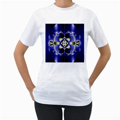Fractal Fantasy Blue Beauty Women s T Shirt (white)  by Nexatart