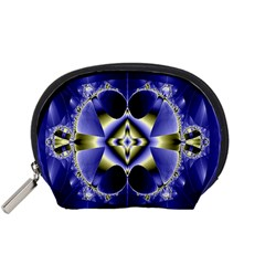 Fractal Fantasy Blue Beauty Accessory Pouches (small)  by Nexatart