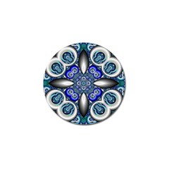 Fractal Cathedral Pattern Mosaic Golf Ball Marker (10 Pack) by Nexatart