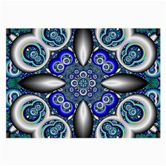 Fractal Cathedral Pattern Mosaic Large Glasses Cloth by Nexatart