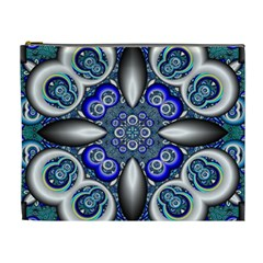 Fractal Cathedral Pattern Mosaic Cosmetic Bag (xl) by Nexatart