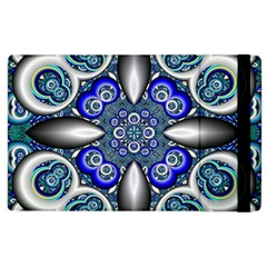 Fractal Cathedral Pattern Mosaic Apple Ipad 3/4 Flip Case by Nexatart