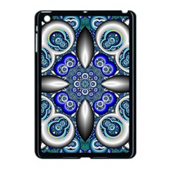 Fractal Cathedral Pattern Mosaic Apple Ipad Mini Case (black) by Nexatart