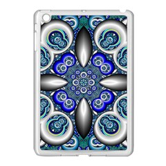 Fractal Cathedral Pattern Mosaic Apple Ipad Mini Case (white) by Nexatart