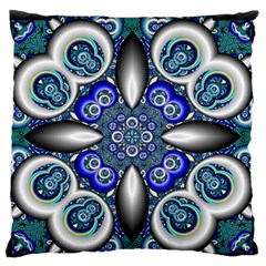 Fractal Cathedral Pattern Mosaic Standard Flano Cushion Case (one Side) by Nexatart
