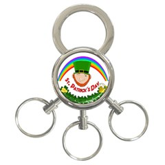 St  Patrick 3 Ring Key Chains by Valentinaart