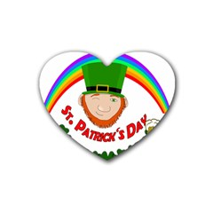 St  Patrick Rubber Coaster (heart)  by Valentinaart