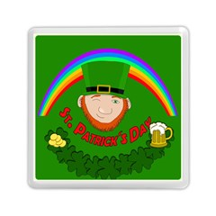 St  Patrick s Day Memory Card Reader (square)  by Valentinaart