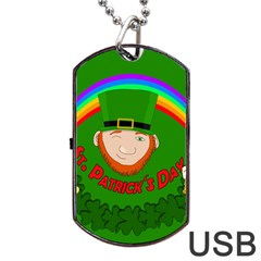 St  Patrick s Day Dog Tag Usb Flash (two Sides)