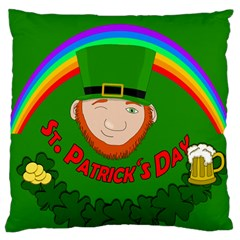 St  Patrick s Day Large Cushion Case (two Sides)