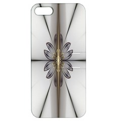 Fractal Fleur Elegance Flower Apple Iphone 5 Hardshell Case With Stand by Nexatart