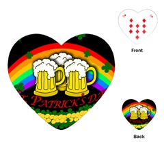 Beer Mugs Playing Cards (heart)  by Valentinaart