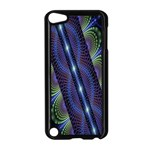 Fractal Blue Lines Colorful Apple iPod Touch 5 Case (Black) Front