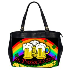Beer Mugs Office Handbags (2 Sides)  by Valentinaart