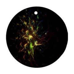 Fractal Flame Light Energy Round Ornament (two Sides) by Nexatart
