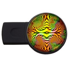 Fractals Ball About Abstract Usb Flash Drive Round (4 Gb) by Nexatart