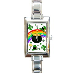 Good Luck Rectangle Italian Charm Watch by Valentinaart