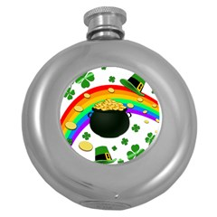 Good Luck Round Hip Flask (5 Oz)