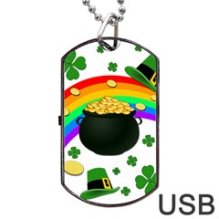 Good Luck Dog Tag Usb Flash (one Side) by Valentinaart