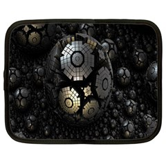 Fractal Sphere Steel 3d Structures Netbook Case (xl)