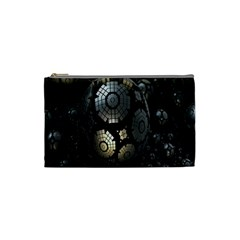 Fractal Sphere Steel 3d Structures Cosmetic Bag (small)  by Nexatart