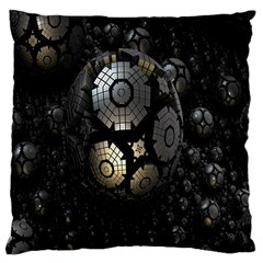 Fractal Sphere Steel 3d Structures Large Cushion Case (two Sides)