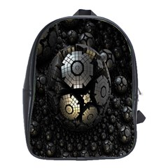 Fractal Sphere Steel 3d Structures School Bags (xl)  by Nexatart