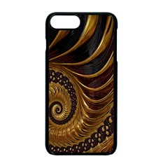 Fractal Spiral Endless Mathematics Apple Iphone 7 Plus Seamless Case (black) by Nexatart