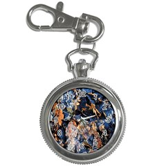 Frost Leaves Winter Park Morning Key Chain Watches by Nexatart